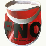 La impresión de sublimación personalizado Visera PVC Hat para promoción