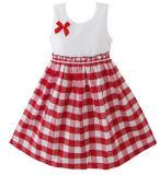 Les filles robe Tartan rouge taille Sundress Enfants Vêtements 2-10