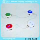 Round UFO Design 4 Port USB Hub 2.0 (ZYF4203)