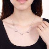De populairste Juwelen van het Ontwerp van de Halsband van de Halsband van de Tegenhanger van de Vorm van Vijf Hart Echte Zilveren Nieuwe