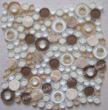 Forma anelar mosaico de mármore mistos de vidro, Mosaico em mosaico
