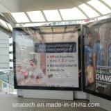Cadre léger de support de mur de poste d'essence des supports publicitaires DEL de défilement d'impression d'intérieur extérieure de drapeau