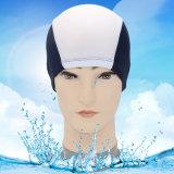 Tecido de poliéster superior Tampão de banho Caps de banho Chapéus de natação para esportes aquáticos