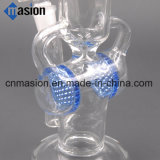 SOLHA de fumo de vidro dos encaixes e do petróleo da flor de Waterpipe do reciclador (LY010)