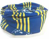 Le logo promotionnel bon marché fait sur commande a estampé le polyester Headwear de couleur chamois personnalisé par protection UV magique