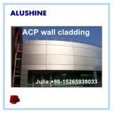외부 벽 클래딩 물자 4mm PVDF 알루미늄 합성 창유리