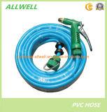 Boyau de jardin renforcé tressé par fibre flexible en plastique de pipe d'irrigation de l'eau de PVC 25mm
