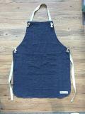 Venda por atacado de linho resistente feita sob encomenda do avental da cozinha do azul de marinha