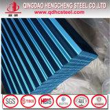 Feuille en acier galvanisée enduite d'une première couche de peinture ondulée de toit
