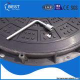Крышка люка -лаза D400 C/O En 124 Best-Mr750d круглая 600*600 с винтом/составной крышкой люка -лаза смолаы