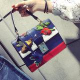 De geborduurde Handtassen van de Zak Pu van de Schouder van de Boodschapper van de Bloem van de Bij