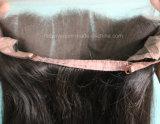 Fermeture brésilienne de frontal de lacet des cheveux humains 13*4*2 360 de Vierge non transformée