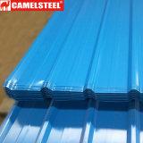 Dx51d Prepainted Folha de Telhado de aço corrugado