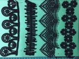 La couleur noire de haute qualité dentelle Polester Ym-1129