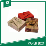 Rectángulo de papel impreso de la categoría alimenticia para los caramelos Packagingt con la maneta