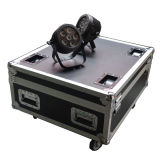 Mini LED PAR Light 6in1 RGBWA + UV Hex com Powercon em Roadcase / Flight Case Stage Light