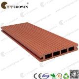 Decking extérieur en bois rouge Grooved du fournisseur WPC de la Chine