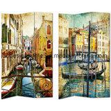 La maggior parte di tela di canapa europea del comitato della pittura 3 delle scale graziose splendide della via/dei divisori & di legno