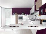 2018 Dernier Design moderne fait de la laque armoires de cuisine personnalisée