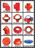 Fire Fighting Systems를 위한 FM/UL Ductile Iron Grooved Equal Tee