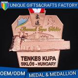Medaglia antica personalizzata del metallo di sport del rame dell'argento dell'oro per olimpico