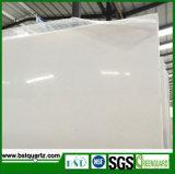 Blanc solide avec la pierre artificielle de quartz des graines fines