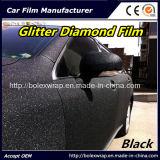 PVCビニールのフィルムを包む黒いきらめき車