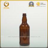 Bouteilles à bière de chapeau de tête de Brown 500ml de qualité (042)