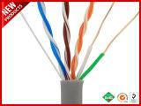 1000футов золотник экранированного кабеля Cat7 и сорвали SFTP Сплошной ПВХ оранжевый кабель Ethernet для массовых грузов