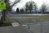 도보 방벽, 이용된 군중 통제 방벽, 군중 통제 바리케이드 및 강철 바리케이드