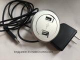 De mini Contactdoos van de Cirkel met 2 USB het Laden lgt-USB2