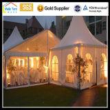 Carpa exterior atractivo Fancy gran parte del techo de la Claro evento decoración cortina de aluminio resistente al agua de buena calidad Feria de boda tienda