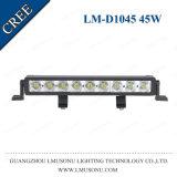Lmusonu 높은 루멘 12V 13 인치 하나 줄 LED 플러드 표시등 막대 45W
