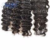 新しい星の中国の卸し売りバージンの毛の一致させた閉鎖が付いている深い波の束は自由に部品