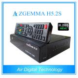 Doble sintonizador DVB-S/S2 Linux HD PVR Ready receptor de satélite con Hevc H. 265 Zgemma H5.2s