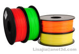 PLA filament de l'imprimante 3D, PLA Filament, jaune, translucide, 1,75 mm, 1000g