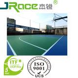 Guangzhou-weicher Basketballplatz-materieller Gummibodenbelag