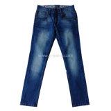 Hight Fashion jeans Blue de qualité blanc Jeans de lavage