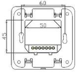 Sala de Suelo radiante eléctrico termostato para edificios comerciales (HTW-21-24)