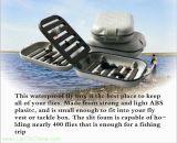 Caixa de pesca plástica da mosca da aleta impermeável de Swingleaf