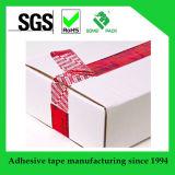 주문 탬퍼 분명한 접착성 안전 테이프, 빈 Anti-Counterfeit 테이프