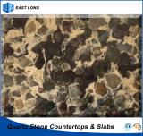 De duurzame Kunstmatige Steen van het Kwarts voor Stevige Oppervlakte met SGS Rapport (dubbele & veelvoudige kleuren)