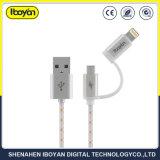 2 em 1 dados de carregamento de Telemóveis cabos USB