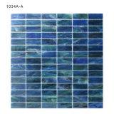 De milieuvriendelijke Materiële Blauwe Tegel van het Mozaïek van het Glas van de Muur van Backsplash van de Keuken