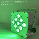 1개의 배터리 전원을 사용하는 LED 동위 빛에 대하여 9*15W 6