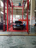 A garagem hidráulica usou o elevador do carro de borne quatro para a venda