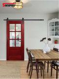 Schwarzes /Coffee-antikes Art-Eisen, das Stall-Tür-Befestigungsteil-Rolle schiebt