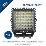 9 Zoll 4X4 quadratische 360W CREE LED fahrendes Licht-nicht für den Straßenverkehr Arbeits-Lampe