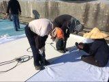 Blad van het dakwerk/Heet Gelast Versterkt Waterdicht Membraan 4m van pvc Hete Breedte verkoopt in Thailand