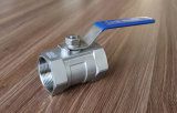Válvula de bola 2PC acero al carbono CS Wcb Lever Handle